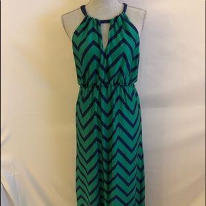 BCX Chevron Maxi Dress SZ L